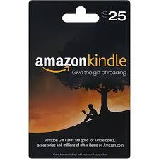 amazon kindle gift card 25 gift