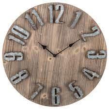 rustic wood wall clock hobby lobby