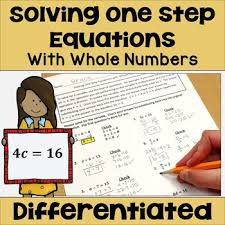 one step equations with whole numbers