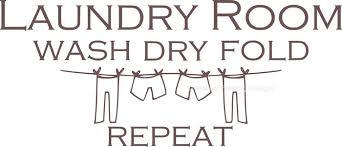 Laundry Room Wash Dry Fold Repeat Vinyl Wall Decal