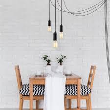 black vintage plug in hanging pendant