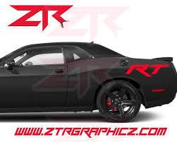 Custom Dodge Challenger Modern Rt Large Quarter Panel Side Decals Ztr Graphicz