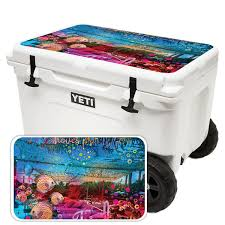 Mightyskins Skin For Yeti Tundra Haul Cooler Lid Tropical Resort Protective Durable And Unique Vinyl