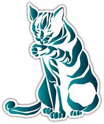 Blue Cat Tribal Pet Lover Car Bumper Vinyl Sticker Decal 4 X5 For Sale Online Ebay