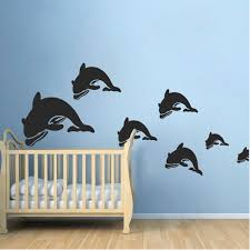 Dolphin Wall Decal Stickers Trendy Wall Designs