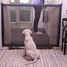 Amazon Com Lohua Pet Dog Gate Net Barrier Safety Fence Playpen For Indoor Home And Office Use Sports Outdoors