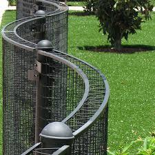 Freestanding Trellis Fence Curved Greenscreen Caddetails
