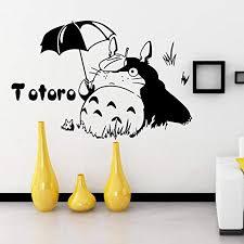 Amazon Com W M Totoro Wall Decor Decal Baby Kid S Room Sticker Nursery Wall Art Decor Mural 2 Home Kitchen