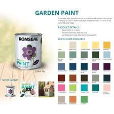 ronseal garden paint wood metal