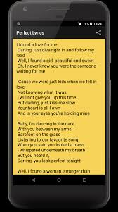 Ed Sheeran Perfect Lyrics 2018 for Android - APK Download