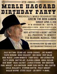 ASG's 13th Annual Merle Haggard Birthday Party @ Threadgill's - Apr 8 2018,  3:30PM