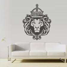 Wall Vinyl Decal Sticker Tiger Leopard Lion Animal Wild Cat Head King Stickersforlife