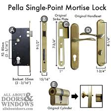 pella sliding door lock replacement