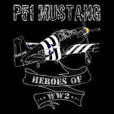 p 51 mustang t shirt ww2 aircraft