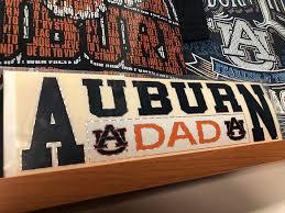 Horizontal Auburn Dad Decal Tiger Rags