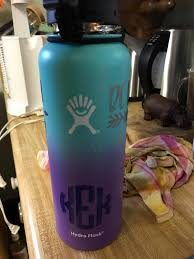 Kerrie S Cup Of Tea Hydro Flask Vinyl Vs Laser Engraved