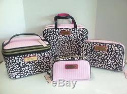 train travel case cosmetic bag pink
