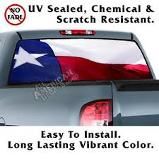 Texas Flag Wavy Back Window Graphic Perforated Film Decal Truck Suv Ebay