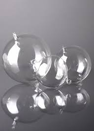 large 100mm round hanging glass
