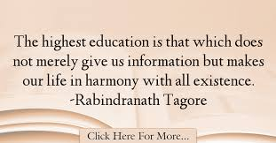 rabindranath tagore quotes about education