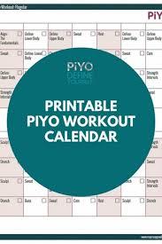 piyo workout calendar regular version
