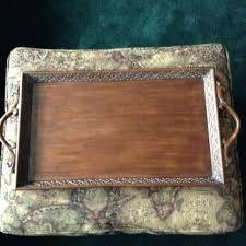hand carved wood serving tray