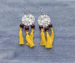 tassels earrings long dangle