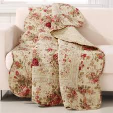 Greenland Home Fashions Antique Rose Multicolored Quilted Cotton Throw-GL-THROWAR  - The Home Depot