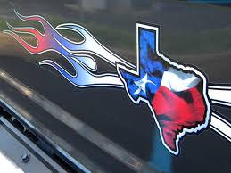 Texas State Flag Red White Blue Flames East Coast Vinyl Werkz