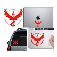Team Valor Pokemon Go Car Decal Computer Sticker Window Etsy