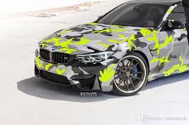2020 Black Yellow Grey Camouflage Vinyl Sticker Car Film Wrap With Air Bubble Adhesive Motorcycle Scooter Car Decal Wrapping From Orinotech 3 96 Dhgate Com