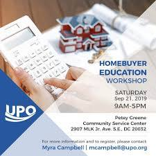 HOMEBUYER EDUCATION Workshop from UPO:... - United Planning ...