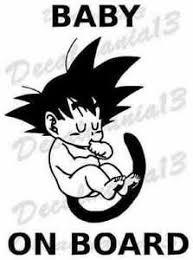Goku Baby On Board Dragon Ball Z Car Truck Window Vinyl Sticker Decal 3 6 X 5 Ebay