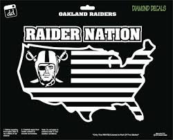 Oakland Raiders Nation Nfl Football Us Map Decal Vinyl Sticker Car Truck Ebay