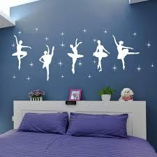 Children Bedroom Decor Ballet Dance Ballerinas Stars Vinyl Wall Decals Art Stickers Dancing Ballet Nursery Room Kids Girls Room Decor Wall Sticker Kw 109 42x120cm White Buy Online In Colombia Missing