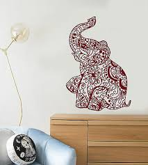 Vinyl Wall Decal Elephant India Hindu Hinduism Nursery Decor Stickers 1399ig Ebay