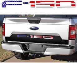 Amazon Com Lawr Adhesive F150 Tailgate Insert Letters 3d F150 Emblem Tailgate Decal Letters For F150 2018 2020 Usa Colored Flag Automotive