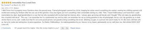 Reviewers Nostalgia About His Grandmother The Product Is A Wall Decal For A Senior Lady With An Asthma Inhaler Amazonreviews