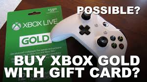 xbox gift card to xbox live gold