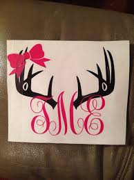 Car Antler Initial Decal By Creationsbyus2 On Etsy 10 00 Monogram Vinyl Decal Initials Decal Monogram Decal