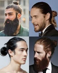 احدث قصات الشعر الطويل للرجال شعر رجالي طويل مربوط