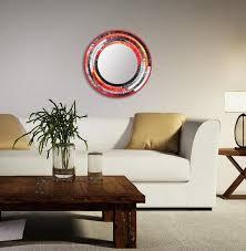 mosaic art mosaic mirror round wall