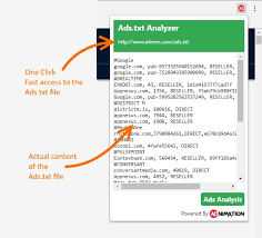 ads txt yzer extension for chrome