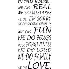 In This House We Do Love Hugs Loud Fun Family Forgiveness Vinyl Wall Art Love Quotes Our Inspirational Christian Scripture Bible Verse Inspired Wall Decals Are Made In The Usa Walmart Com
