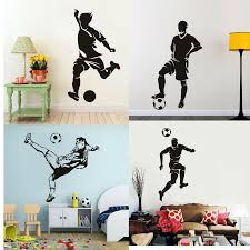 Football Wall Sticker Sports Player Vinyl Decal Kids Boys Bedroom Wall Art Decor For Sale Online Ebay