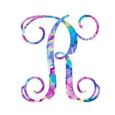 Amazon Com Letter R Monogram Initial Vinyl Decal Personalized Monogrammed R Sticker For Yeti Cup Tumbler Laptop Water Bottle Or Car Window Accessories For Women 3 25 Inches Watercolor Pattern Handmade
