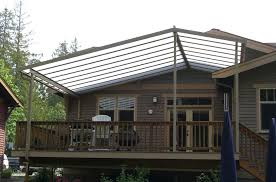 gable patio cover on craftsman style