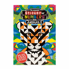 The Original Sticker By Numbers Book Animals 2 Reviews 4 Stars Daedalus Books D92606
