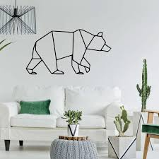 Bear Outline Silhouette Vinyl Wall Decal Outdoors Theme Home Decor Customvinyldecor Com