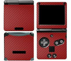 Red Carbon Fiber Vinyl Decal Skin Cover Sticker For Game Boy Advance Gba Sp Carbon Fiber Vinyl Vinyl Vinyl Decals
